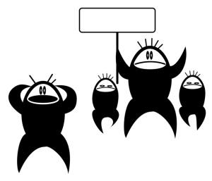 abstract cartoon illustration of troubles © tanais // Fotolia #10097190