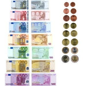 Euro banknotes and coins © c. Fotolia #6130642