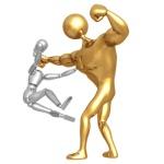 "ENFORCERS. ""boxing dummy"" © Scott Maxwell / Fotolia #1368447."