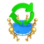 Safety Net Catching Recycle Symbol